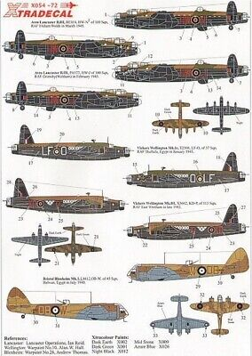 Xtradecal X72054 1/72 RAF Bomber Command Part 1 Model Decals