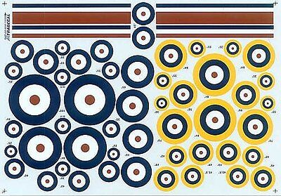 Xtradecal X72045 1/72 RAF Roundels A type/A1 type Model Decals