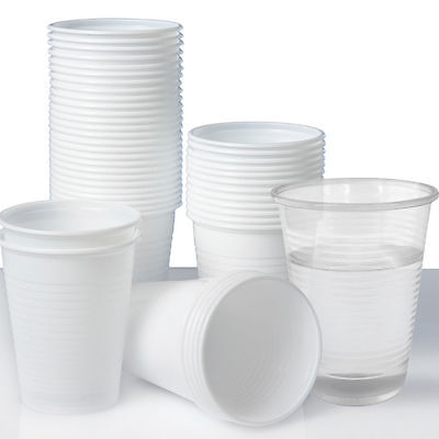 1000 X New Clear /  White Disposable Cups Glasses Party Marriage Drinking Glass