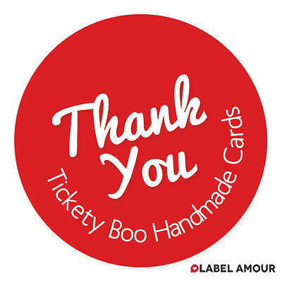 40 PERSONALISED STICKERS Labels | Thank You with Address | Choice of 14 Colours