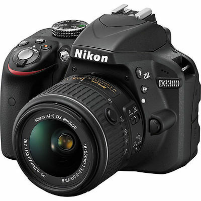 Nikon D3300 Dslr Camera w/ New 18-55mm Af-p Stepping Vr Motor 18-55 Nikkor Lens
