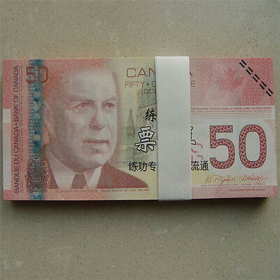 50 C$ Canada Paper Money Bank Notes 100pcs Commemorate the Collection Banknotes