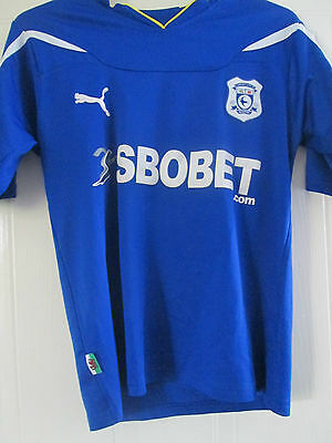 Cardiff City 2010-2011 Home Football Shirt Size Small Adult /40293