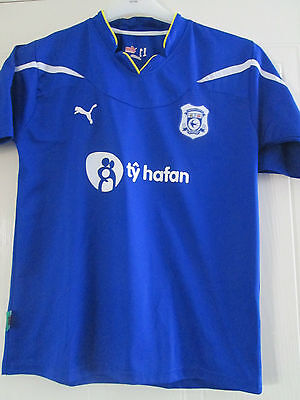 "Cardiff City 2010-2011 Home Football Shirt Size 32-34"" Adult /40296"