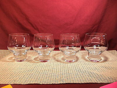 """Very Nice Set of 4 Modern Style Double Old Fashioned Glasses 4 3/4"""" Iittala?"""