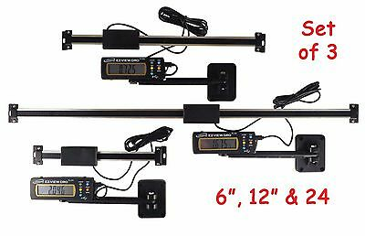 "Digital Readout DRO Set 6"" 12"" & 24"" Igaging  AC Articulating Remote Display"
