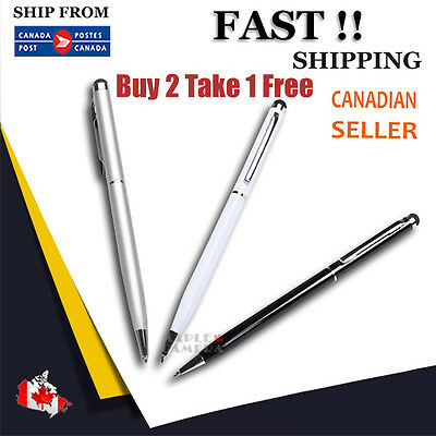2 in1 Capacitive Touch Screen Stylus/Ball Point Pen iPad iPhone 6 5 iPod