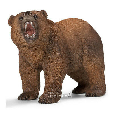 FREE SHIPPING | Schleich 14685 Male Grizzly Bear Toy Figurine - New in Package