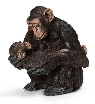 FREE SHIPPING | Schleich 14679 Chimpanzee Female with Baby Toy- New in Package