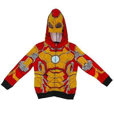 Iron Man Mark 42 Costume Marvel Licensed Boys & Toddler Zip-up Hoodie 2T-4T S-XL