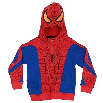 Spider-Man Costume Marvel Licensed Boys & Toddler Zip-up Hoodie 2T-4T S-XL
