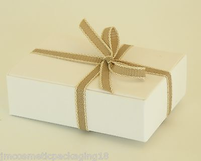 Small Gift Box/Soap Carton White Boxes Jewellery Gifts Self Assembly Boxes