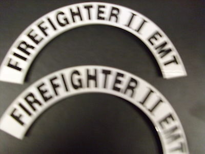 Crescents  Pair Firefighter Ii Emt  For Fire Helmet Or Hardhats