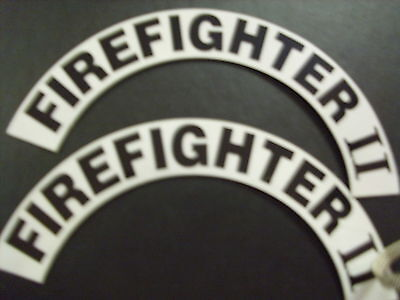 Crescents  Pair Firefighter Ii  For Fire Helmet Or Hardhats
