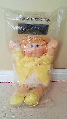 Yellow vintage Cabbage Patch Kids doll SEALED