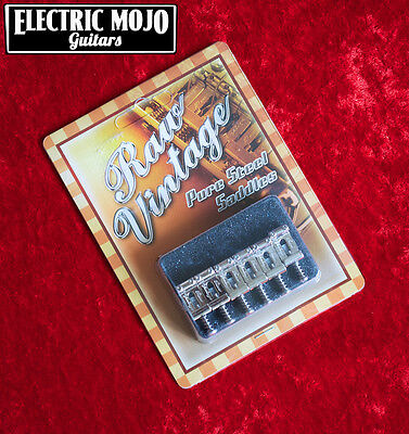 Raw Vintage Pure Steel Tremolo Saddles Stratocaster 11.2mm RVS-112