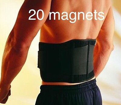 Adjustable Double Pull Bio Magnetic  Lumbar & Lower Back Support Belt Sport