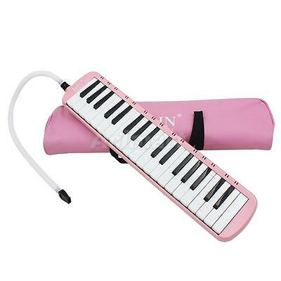 37 Piano Key Melodica Harmonica Music Instrument for Beginners w/ Bag Pink