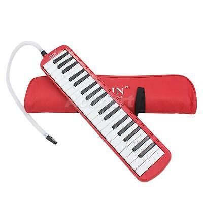 37 Piano Key Melodica Harmonica Music Instrument for Beginners w/ Bag Red