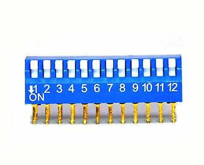 5pc 12P 12 positions Side Piano Type DIP Switch Taiwan