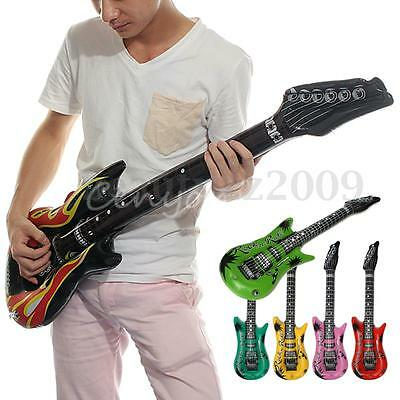 40'' Inflatable Blow Up Rock Roll Band Guitar Musical Instrument Party Kid Toys