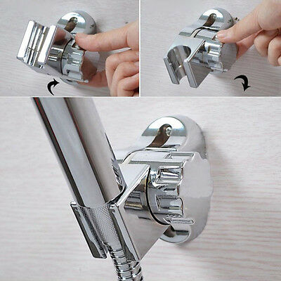 Adjustable Chrome ABS Bathroom Shower Head Holder Stand Wall Mounted Bracket