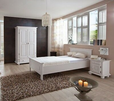 g stezimmer 1 bett 1nachttisch 1 schrank eur 210 00 picclick de. Black Bedroom Furniture Sets. Home Design Ideas