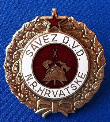 Croatia badge Firefighting medal Yugoslavia - Vatrogasni savez Hrvatske DVD NRH