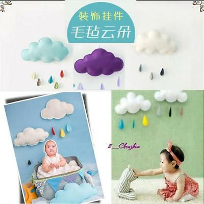 Lovely Cloud Raindrop Wall Stickers Decals Nursery Baby Kids Room Decor Hanging-