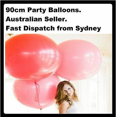 New Huge 90cm Wedding Birthday Party Balloons Supplies – 100% Latex Helium