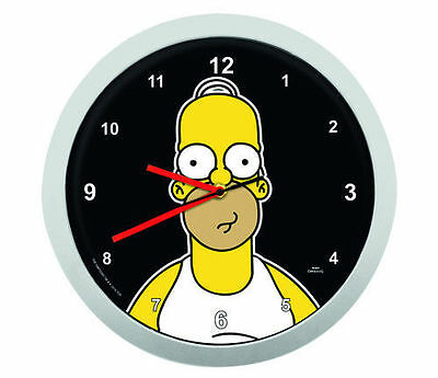 Homer Simpson 3D Wanduhr, The Simpsons, Kinderuhr, Uhr