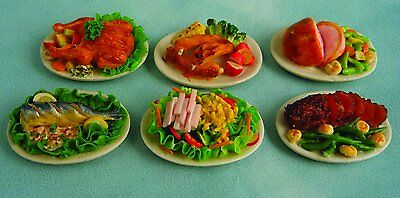 1/12Th Scale Dolls House Main Meals On Plate One Supplied