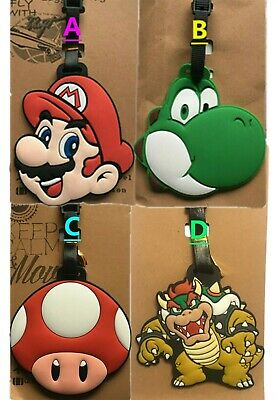 Super Mario Bros KID Travel Luggage Tag School Bag Silicone NEW Game