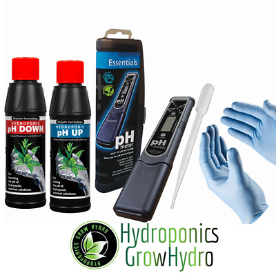pH Testing and Treating Kit - pH up + down, testing pen, free pipette and gloves