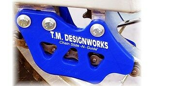 """T.M. Designworks BLUE """"Factory 1"""" Chain Guide for Yamaha 2007-14 YZ250F YZ450F"""