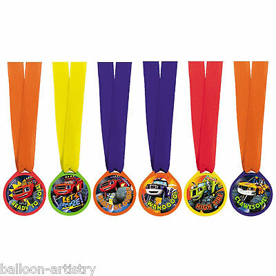 12 Blaze & The Monster Machines Children's Party Prizes Ribbon Award Medals