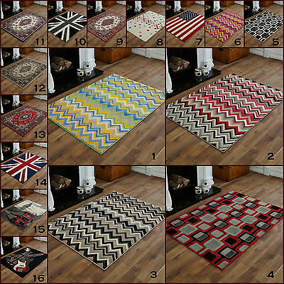 Medium Modern Small Alpha Red Grey Black Multi Colour  Budget Clearance  Rugs