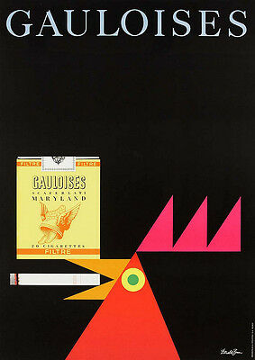 Home Wall Art Print - Vintage Advertising Poster - GAULOISES - A4