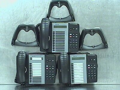 Lot of 3 Mitel 5312 IP Phones W/ Stand/Handsets (B089159)