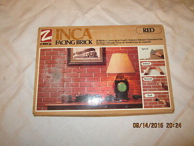 NEW IN THE PACKAGE Z Brick Inca RED Facing Brick - 20 Bricks - Covers 4 Sq. FT