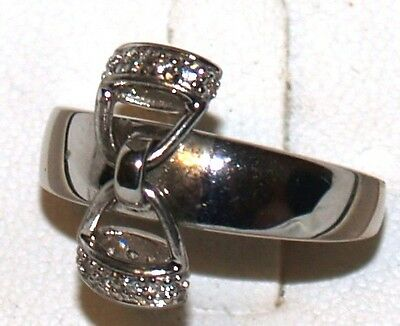 Kelly Herd Sterling Silver Ring with Dangling Stirrups