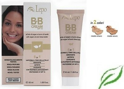 Bb Cream 6 In 1   All'olio Di Argan E Burro Di Karitè Lepo 50 Ml