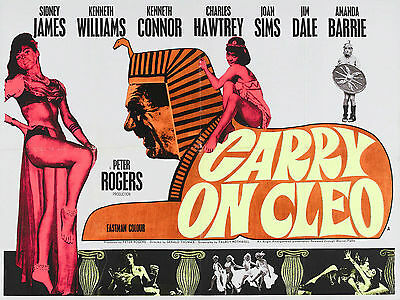 Home Wall Art Print - Vintage Movie Film Poster - CARRY ON CLEO  - A4,A3,A2,A1