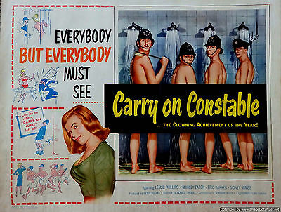Home Wall Print - Vintage Movie Film Poster - CARRY ON CONSTABLE  - A4,A3,A2,A1