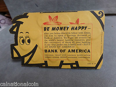 Bank of America Savings Paper Pig filled with Silver Dimes- 30 total