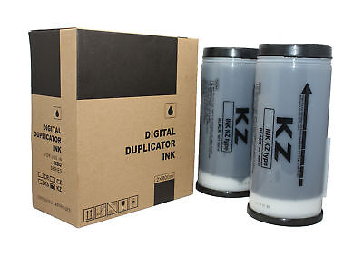 2 Riso KZ Compatible Black Ink Tubes Risograph for KZ Machines