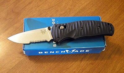 BENCHMADE New Osborne Assisted Volli Satin Combo Edge S30V Blade Knife/Knives