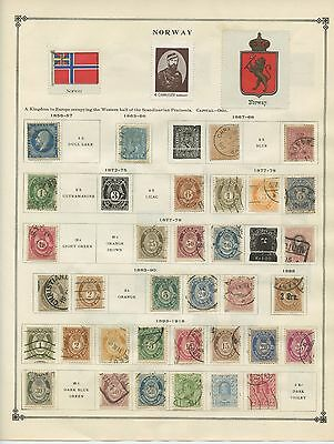 NORWAY--Collection of 124 stamps Cat.Val. $717.60