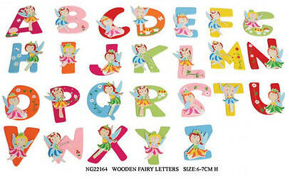 1 x Gorgeous Alphabet FAIRY Wooden Letter Personalise Anywhere 6cm  $2.20