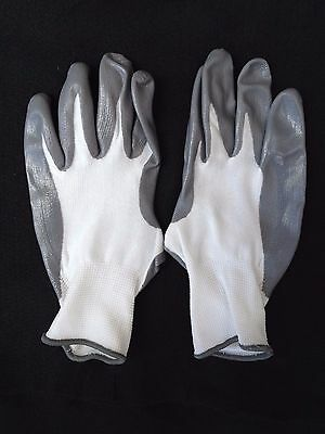 NITRILE PLAM DIPPED WORK GLOVES  - SIZE L - XL - 120 Pairs